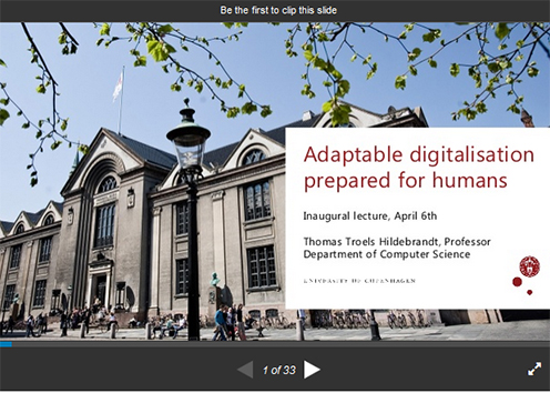 Slideshow - Adaptable digitalisation prepared for humans